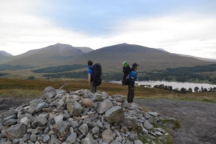 Auf dem Gipfel des Mam Carraigh